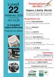 locandina 22 febb Presentazione Libro Sapereliberta m scaled